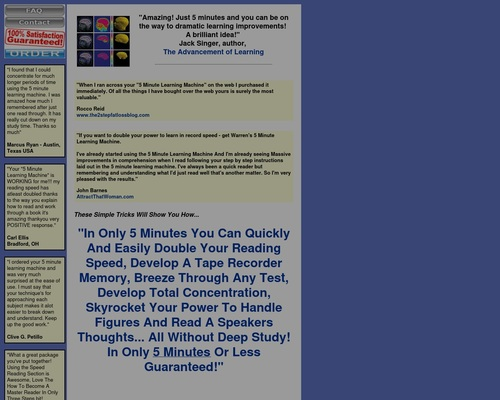 5 Minute Learning Machine: Doubling Your Power To Learn In Only 5
