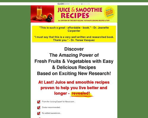 Juice and Smoothie Recipes   Juicing Secrets