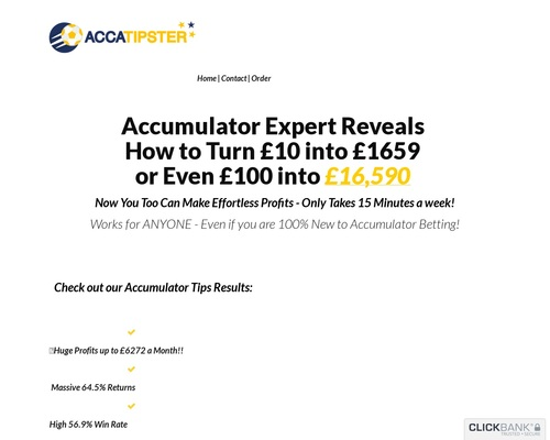New! Accatipster - This Year's Hottest Accumulator Offer!