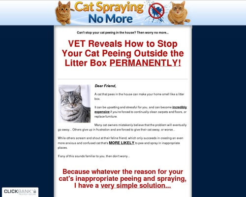 Cat Spraying No More - How to Stop Cats From Urinating Outside the