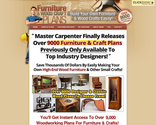 9,000 Wood Furniture Plans and Craft Plans For DIY Woodworking -