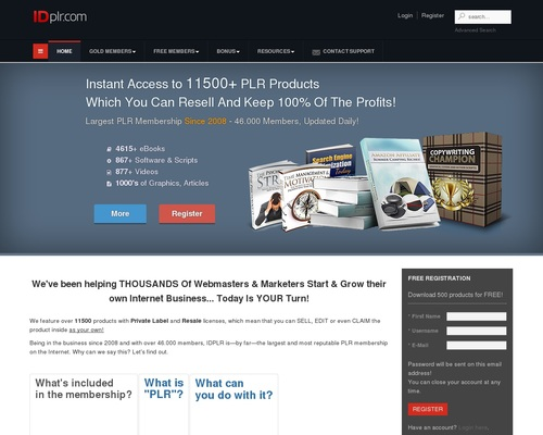 12590+ PLR Products! Join free PLR membership & download latest