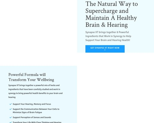 SynapseXT.com – A Way to Supercharge Your Health! –