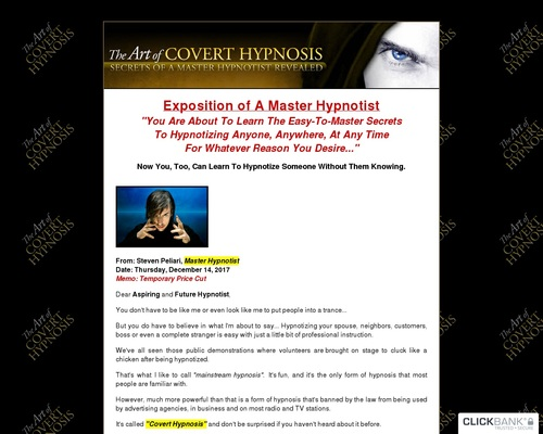 The Art Of Covert Hypnosis - Massive Commissions - Extreme