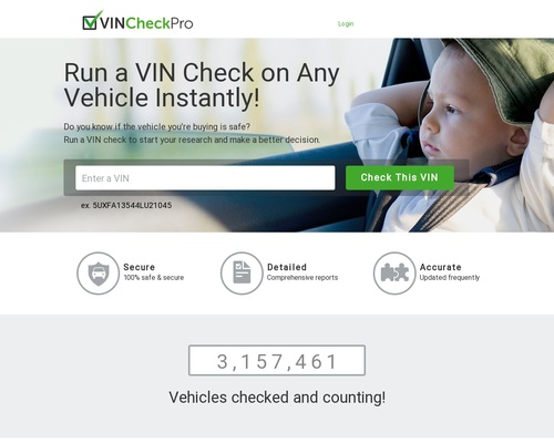 Vin Check Pro - A Product Created For Affiliates By Affiliates.