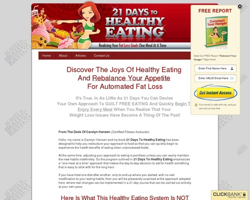 21 Days To Healthy Eating: Realizing Your Fat Loss Goals One Meal At