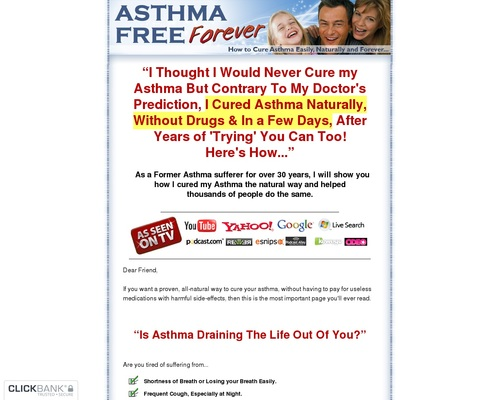 Asthma Relief Forever - How to Cure Asthma Easily, Naturally and