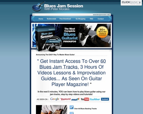 Bluesjamsession.com - 6% Conversions On This Blues Guitar Package