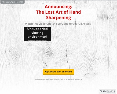 The Lost Art of Hand Sharpening