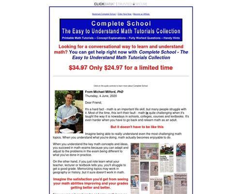 Complete School - The Easy to Understand Math Tutorials Collection