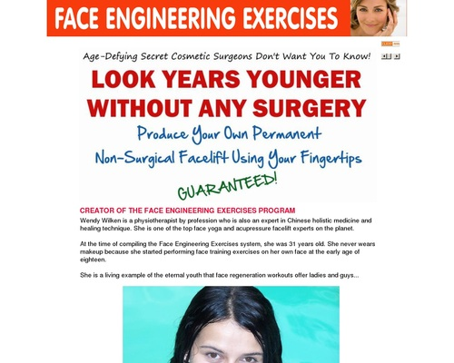 Face Engineering Exercises For Lifting Face Muscles And Skin