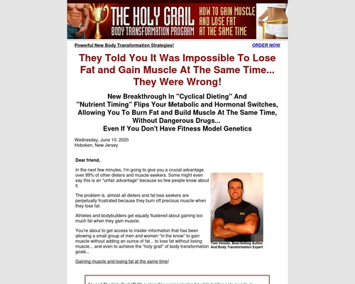 Holy Grail Body Transformation, Lose Fat and Gain Muscle, Body