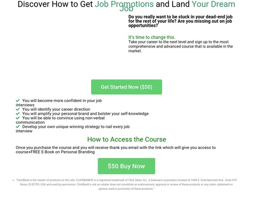 E-course on how to ace any job interviews+E-Book on Personal Brand  
