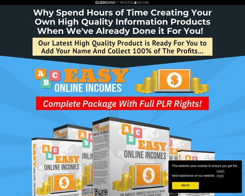 Easy Online Incomes Complete PLR Package