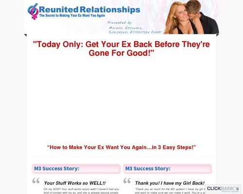Relationship Advice | How to Get Your Ex Back | The M3 System –
