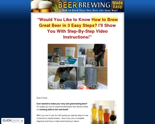 Beer Brewing Made Easy - How to Brew Your Own Beer the Easy Way