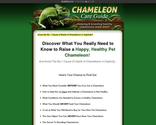 Chameleon Care Guide - Keeping and Breeding Healthy Chameleons Made