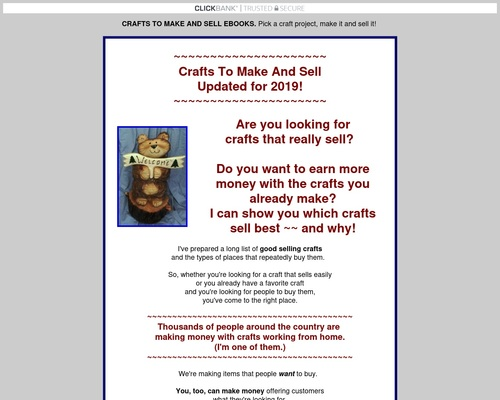 CRAFTS TO MAKE AND SELL EBOOKS. Pick a craft project, make it & sell