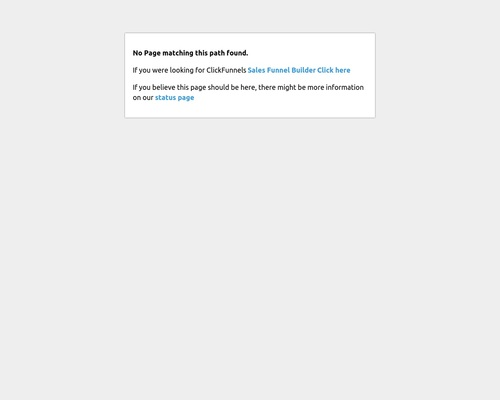 Clickfunnels - Page Not Found
