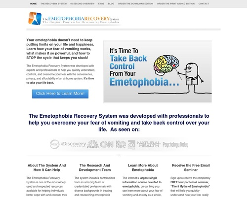 Emetophobia Recovery System – Start Overcoming Your Emetophobia