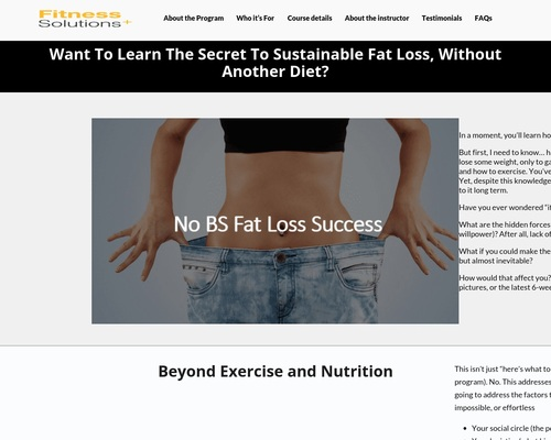 No-BS – Personal Trainer Toronto | Fitness Solutions Plus |
