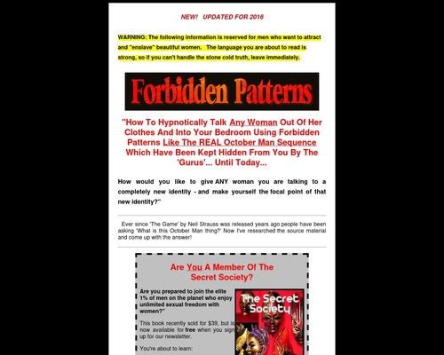 Forbidden Patterns - The October Man Sequence and more!