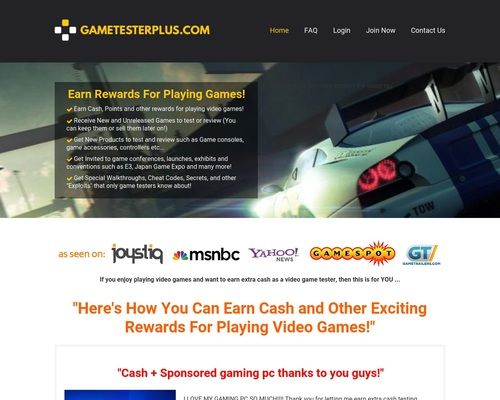 GameTesterPlus.com - Earn Rewards for Playing Games!
