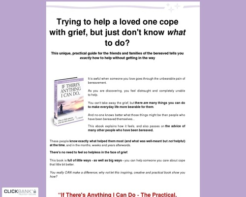 How To Help With Grief - If There's Anything I Can Do-How to help the