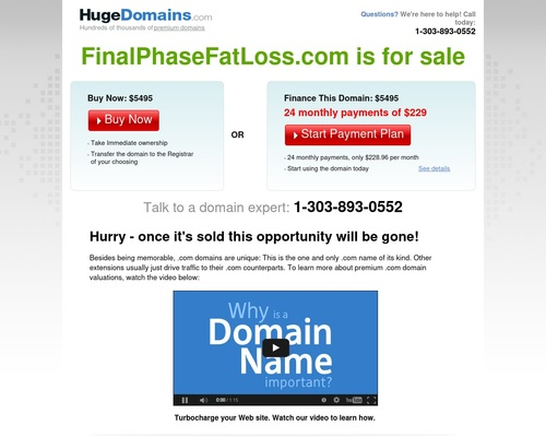 FinalPhaseFatLoss.com is for sale | HugeDomains