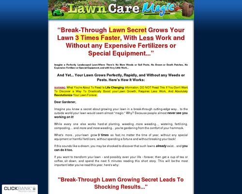 Lawn Care Magic - Grows the Perfect Lawn Fast and Without any Weeds