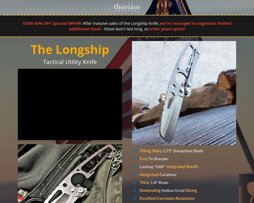 The Longship Knife | NEW Discount!