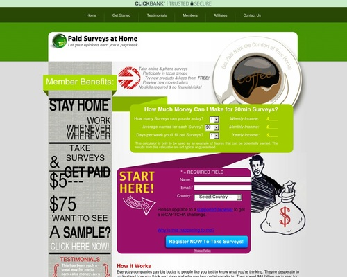 Paid Surveys at Home -
