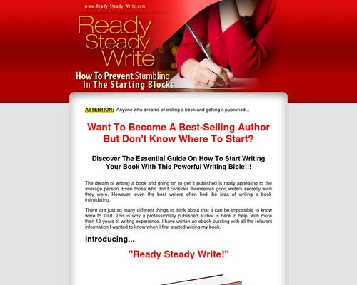 Ready Steady Write - How To Start Writing A Book