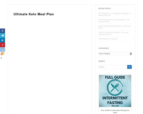 21 Day Ketogenic Diet Meal Plan - Ultimate Keto