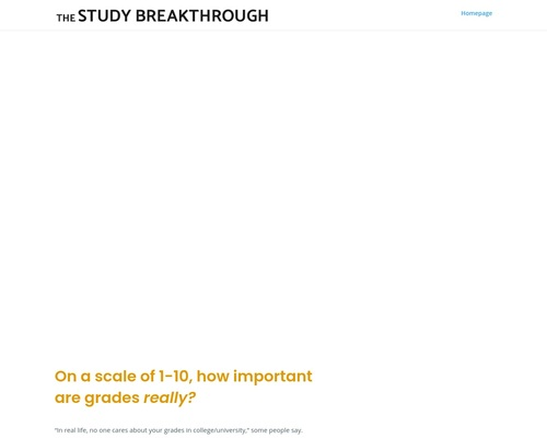 The Study Breakthrough | Hack your mind for better grades without any