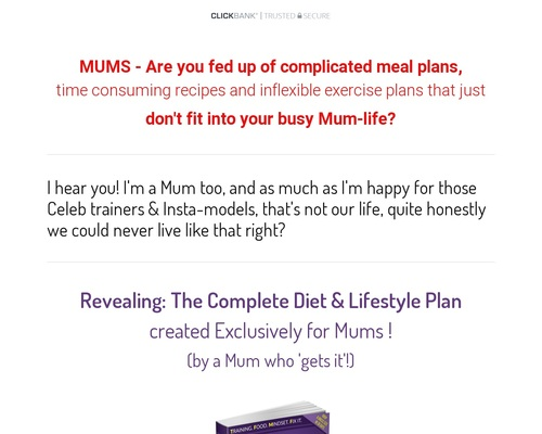 TFMF Complete Diet & Lifestyle Guide For Mums Ebook Clickbank -