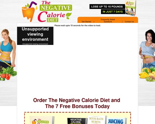 THE NEGATIVE CALORIE DIET - NATURAL WEIGHT LOSS MADE EASY!