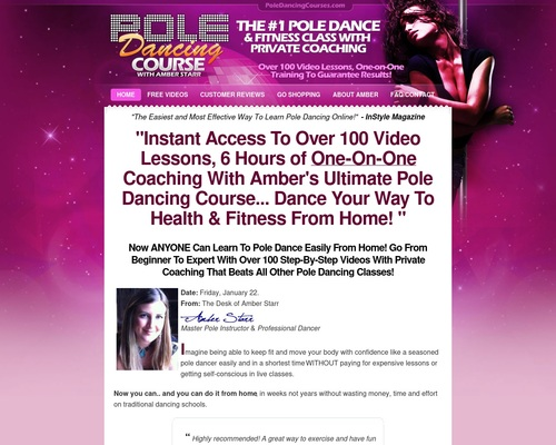 Home Pole Dancing Classes - 6 Hours of 100 Pole Dancing Videos