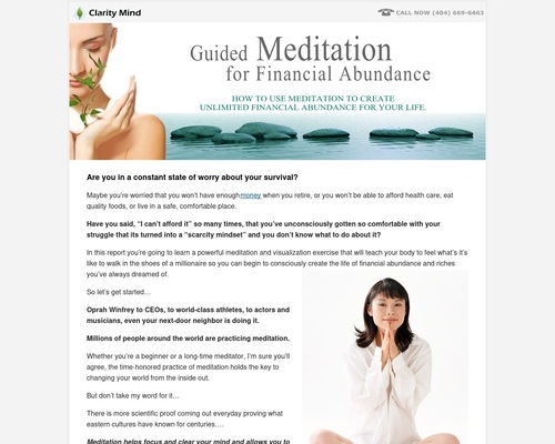 How To Use Meditation to Create Unlimited Financial Abundance In Your