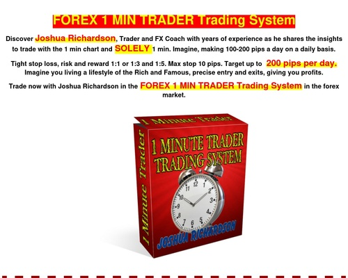 FOREX 1 MIN TRADER Trading System - World's first one minute
