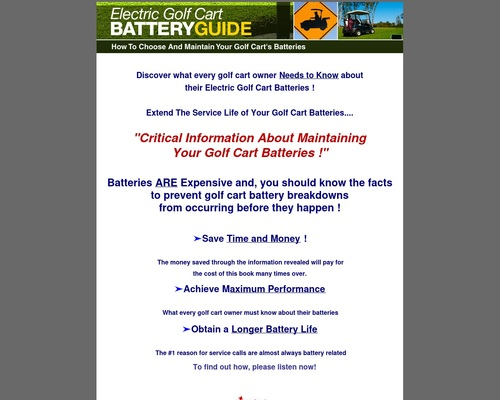 Golf cart batteries | Golf Cart Batteries Maintenance