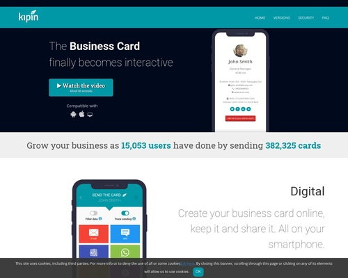 Kipin - The digital business card on your smartphone