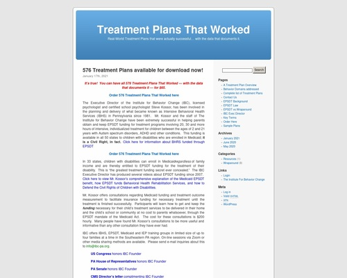 Treatment Plans That Worked