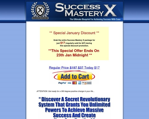 Success Mastery X   The Ultimate Blueprint For Achieving Success With