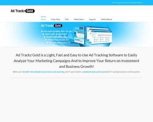 Ad Trackz Gold – Ad Tracking and Conversion Tracking Software