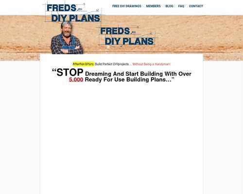 Fred's DIY Plans – More than 5000 Building plans and